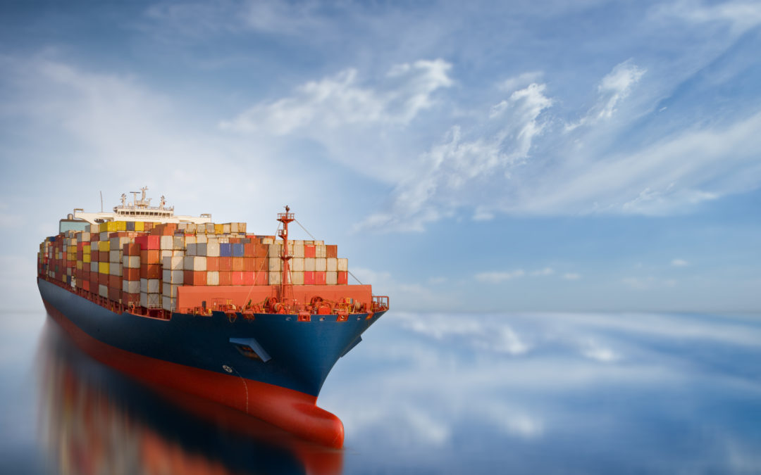 Smart cargo ship carrying container
